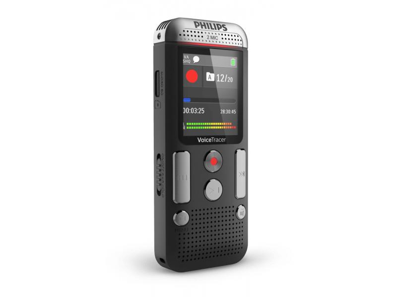 Диктофон Philips DVT2510 philips vtr5800 digital recorder voice tracer with mp3 recording function