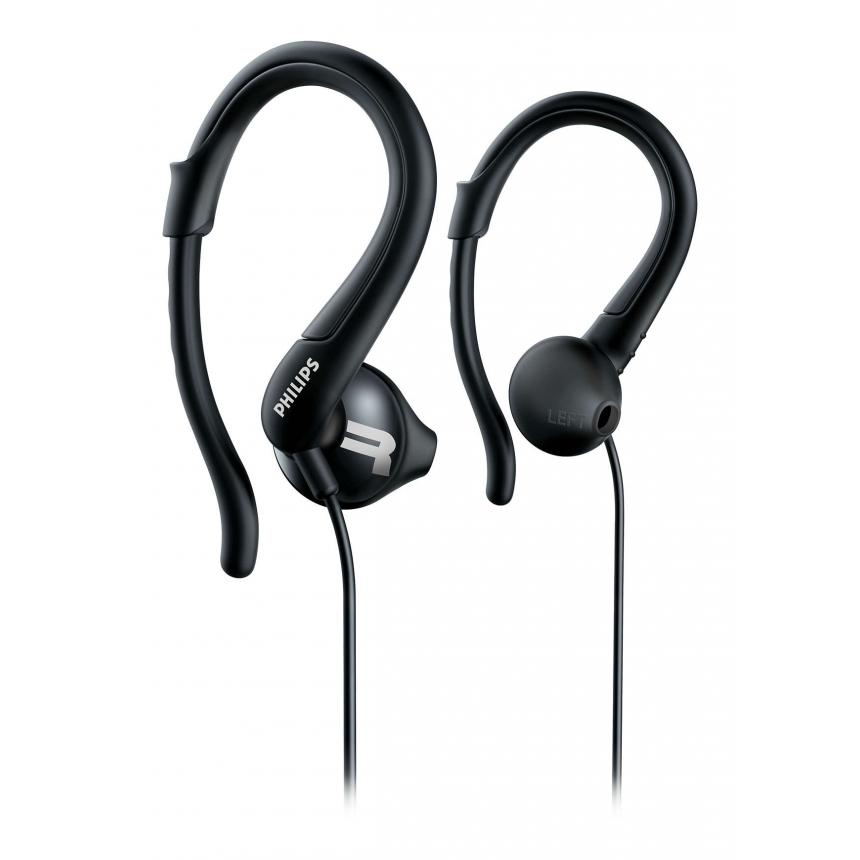 Спортивные наушники Philips ActionFit SHQ1250TBK наушники philips she8100bk 00 philips she3590pp