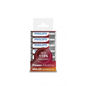 Батарея Philips Power Alkaline LR03P20T
