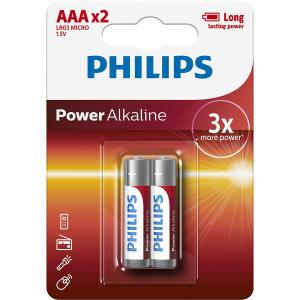 Батарея Philips Power Alkaline LR03P2B