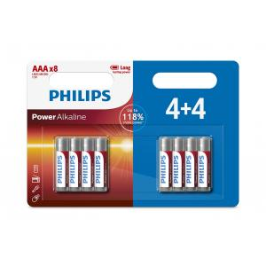 Батарея Philips Power Alkaline LR03P8BP