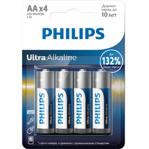 Батарея Philips Ultra Alkaline LR6E4B