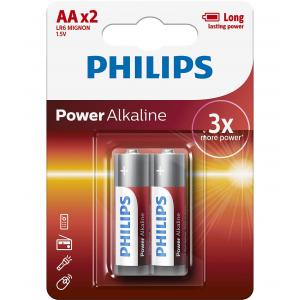 Батарея Philips Power Alkaline LR6P2B