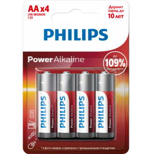 Батарея Philips Power Alkaline LR6P4B