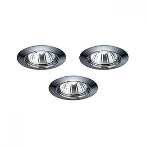 Встраиваемый спот ALPHA recessed chrome 3x50W Massive 59393/11/10