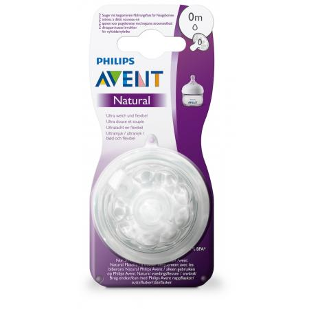 Соска 0 мес + Philips Avent Natural SCF040/27
