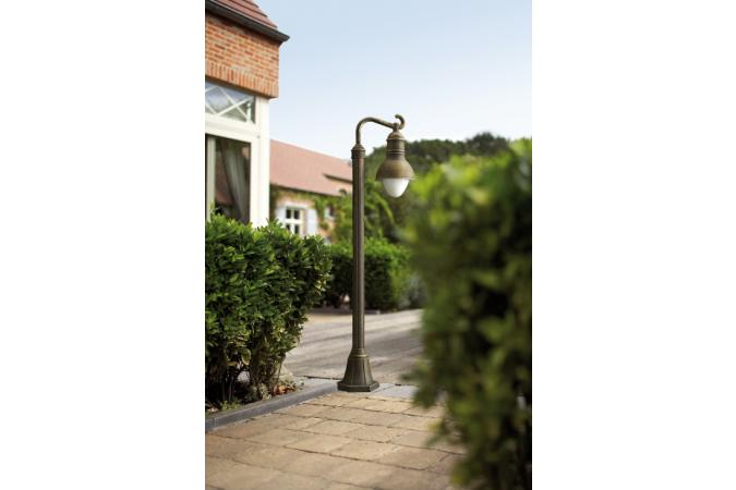 Уличный напольный COVENTRY lantern post BlackBrush 1x23W Massive 15263/42/10