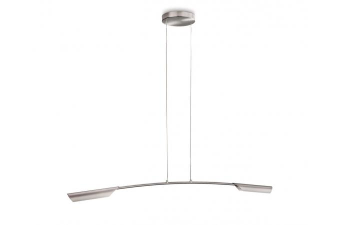 Светильник подвесной Bis pendant LED nickel 2x7.5W SELV Philips 37950/17/16