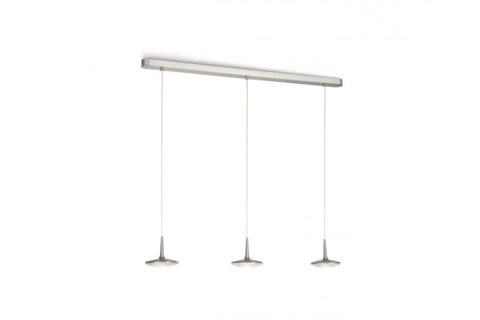 Светильник ATTILIO pendant LED nickel 3x7.5W SELV Philips 40546/17/13