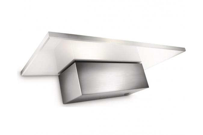 Светильник настенный Matrix wall lamp LED nickel 1x7.5W SELV Philips 45579/17/16