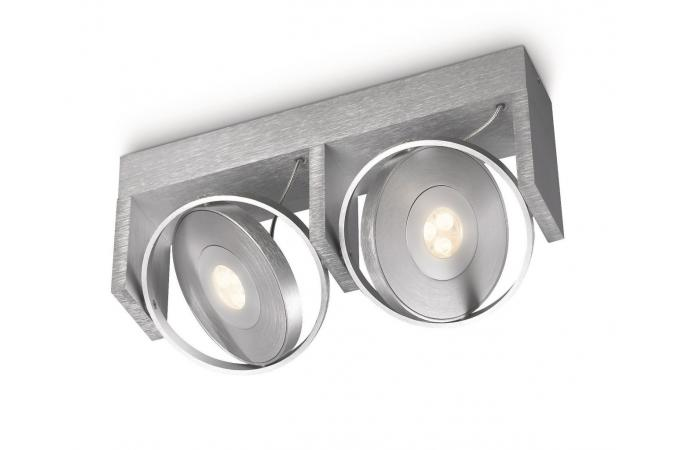 Светильник точечный PARTICON bar/tube LED aluminium 2x7.5W Philips 53152/48/16