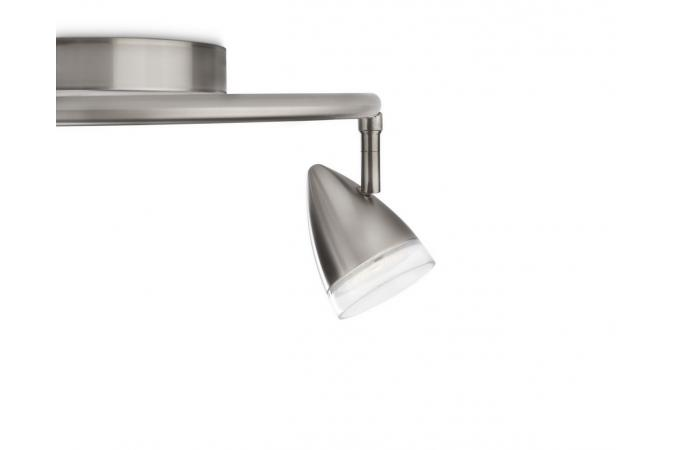 Светильник акцентный  MAPLE plate/spiral LED nickel 3x4W SELV Philips 53219/17/16