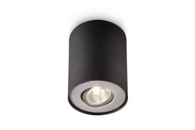Светильник точечный PILLAR single spot black 1x50W 230V Philips 56330/30/16