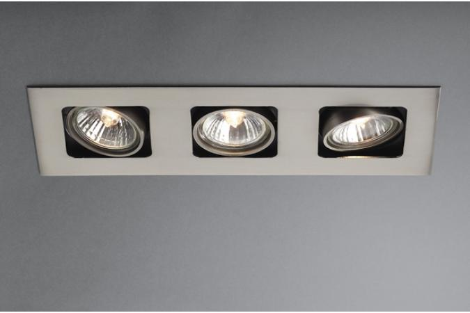 Встраиваемый спот ARTEMIS recessed nickel 3x50W Massive 59303/17/10