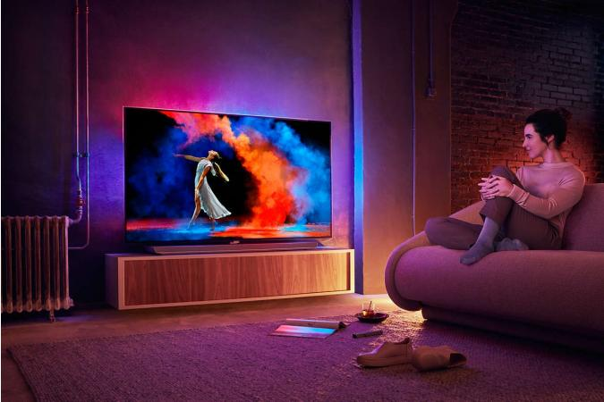 OLED Телевизор Ultra HD Philips на базе ОС Android 65OLED973 65 дюймов