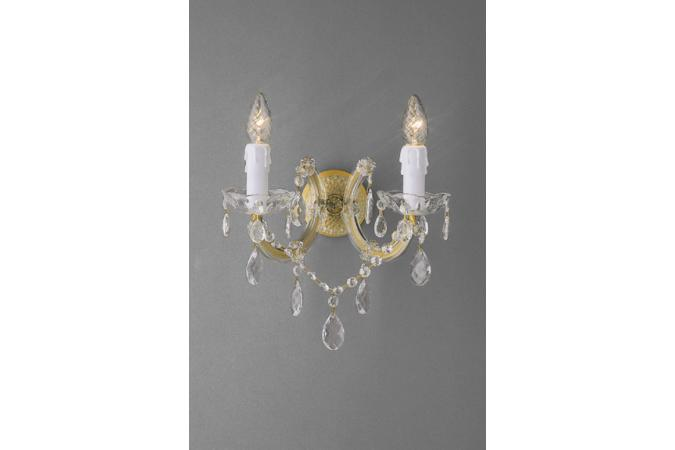 Бра VERSAILLES wall lamps brass 2x40W 2 Massive 80002/02/01