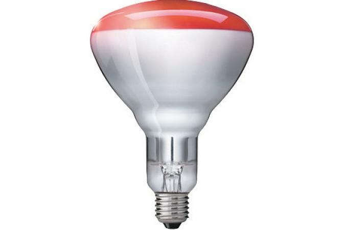 Лампа накаливания Philips E27 BR125 IR 230-250V Red 1CT/10 150 Вт