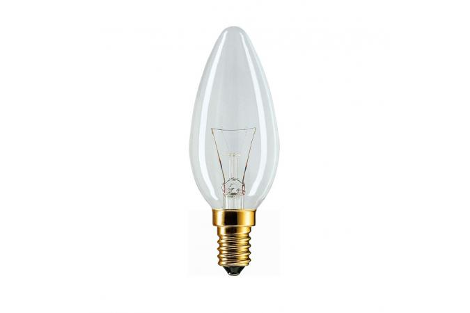 Лампа накаливания Philips E14 B35 230V CL.1CT/10X10F 40 Вт