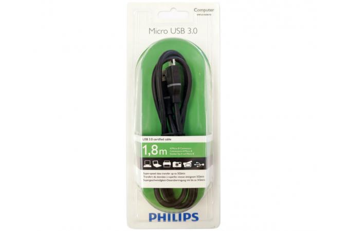 USB кабель Philips SWU3182N   A/5-Pin mini B-connectors 1,8м  черный