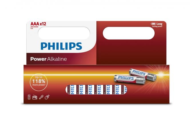 Батарея Philips Power Alkaline LR03P12W