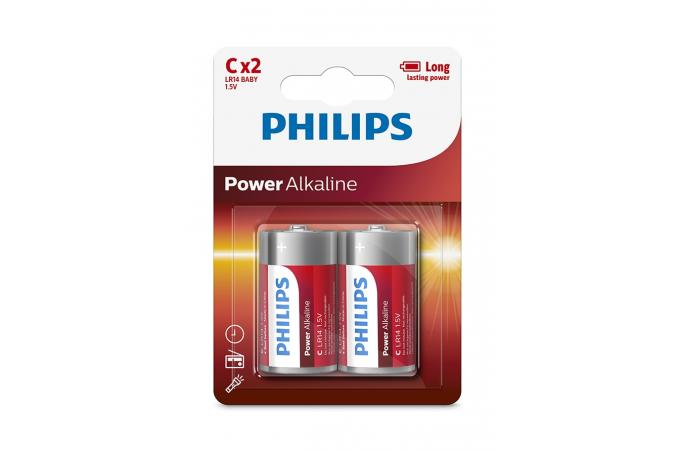 Батарея Philips Power Alkaline LR14P2B