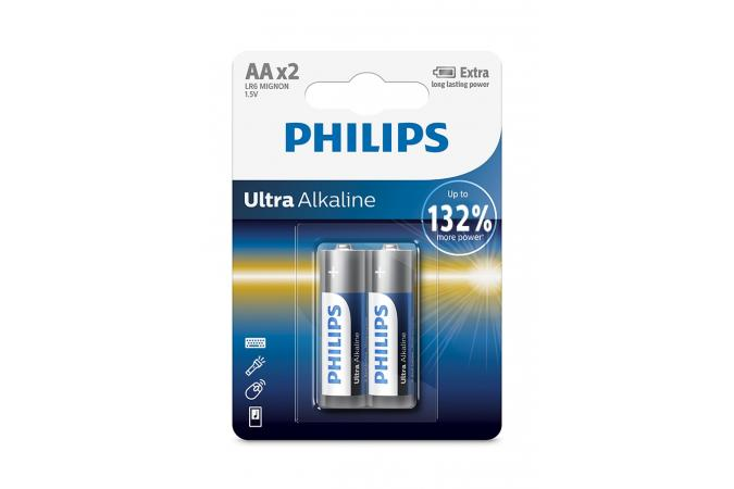 Батарея Philips Ultra Alkaline LR6E2B