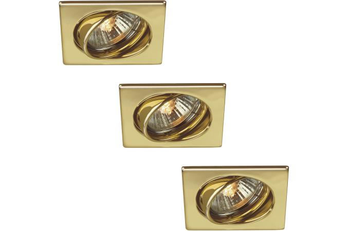 Встраиваемый спот QUARTZ recessed brass 3x50W Massive 59323/01/10