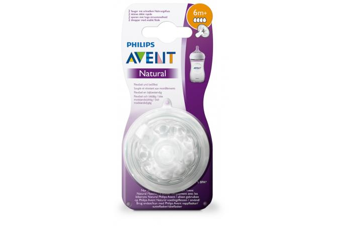 Соска 6 мес + Philips Avent Natural SCF044/27